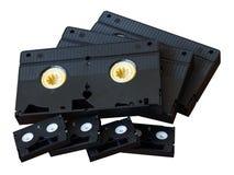 VHS кассеты изолята и мини DV Стоковые Фото