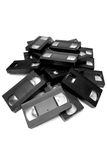 vhs кучи кассет стоковые фото