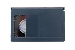 VHS-c video cartridges on white background stock image