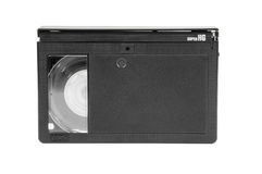VHS-C video cassette on white background Royalty Free Stock Images