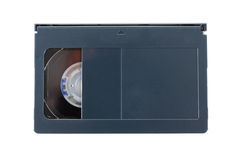 VHS-c videopp kassetter på vit bakgrund fotografering för bildbyråer