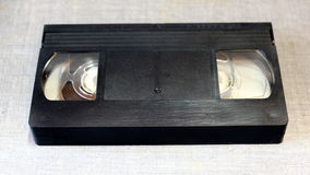 VHS cassette rear view.  Stock Photos