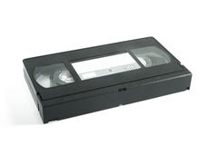 Vhs cassette on white. Background royalty free stock photography