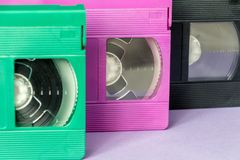 VHS cassettes Stock Photography