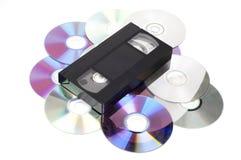 VHS Cd εναντίον Στοκ Φωτογραφία