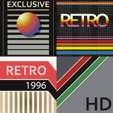 Vhs cover style. Set of vhs design covers. Retro style. Vector EPS10 Stock Photos