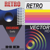 Vhs cover style2. Set of vhs design covers. Retro style. Vector EPS10 Royalty Free Stock Image