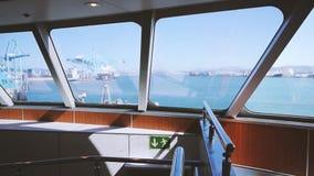 VHS-de mening van de bandfilm van veerboot Algeciras, Spanje stock videobeelden