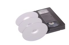 VHS-DVD1 Immagine Stock