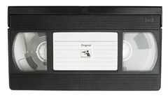 VHS film Cassette royalty free stock photos