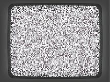 VHS grey Screen Intro. Vector VHS grey intro screen of a tv with noise flickering. Retro 80 s style vintage pixel art background royalty free illustration
