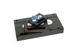 VHS, 8 milímetros mini tarjeta de DV y del SD Fotos de archivo libres de regalías