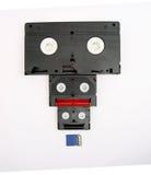 VHS, 8 milímetros mini tarjeta de DV y del SD Fotografía de archivo libre de regalías