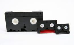 VHS, 8 mm en Minidv stock afbeelding