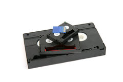 VHS,  8 mm  Mini DV and SD card Royalty Free Stock Photos