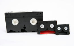 VHS, 8 mm and Mini DV stock image