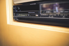 Vhs player and recorder videotape professional system Stock Photography