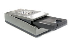 VHS Rewinder and vhs video tape Royalty Free Stock Images