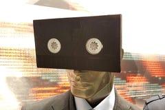 vhs taśma na mannequin lali twarzy, technologii pojęcie fotografia royalty free