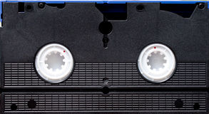 VHS Tape. Closeup of bottom of VHS tape for background stock image