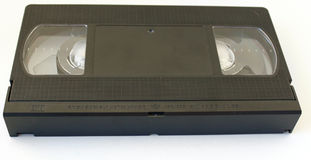 VHS Tape. A VHS tape on a white background stock photo