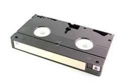 VHS tape. Old VHS tape isolated on white background Royalty Free Stock Photography