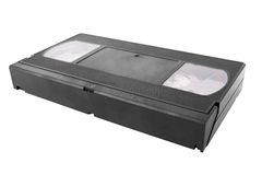 VHS. Tape isolated on a white background stock images