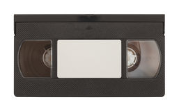 VHS Tape. Old VHS Video Tape with Copy Space Isolated on White Background Stock Image
