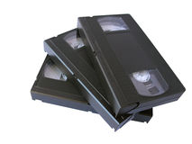 VHS tapes stock photos
