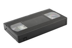 VHS tapes on white Royalty Free Stock Photos