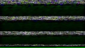 Reverse VHS Tape Screen. Tv Test Signal. Error Video Recording. stock video footage