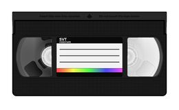 VHS video casette stock illustration
