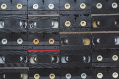 VHS Video Cassette Tapes. Top view stock photos