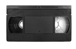 VHS video tape cassette Royalty Free Stock Photo