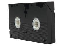 VHS video tape cassette on white background Stock Photo