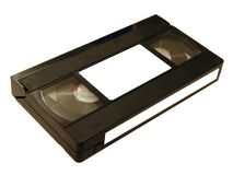 VHS videotape. On white background stock photography