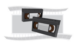VHS videotapes Stock Image