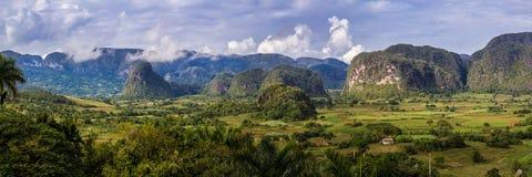 Viñales谷全景在古巴 免版税图库摄影