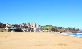 Viña Del Mącący i Reñaca, Chile, plażowy widok Zdjęcie Stock