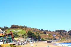 Viña Del Mącący i Reñaca, Chile, plażowy widok Obraz Stock