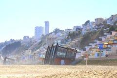 Viña Del Mącący i Reñaca, Chile, plażowy widok Obraz Royalty Free