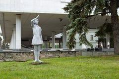 VI列宁诞生的纪念品100周年在城市  免版税图库摄影