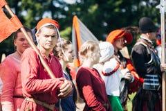 VI节日的战士参加者中世纪 库存图片