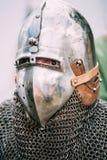 VI节日的战士参加者中世纪 免版税库存照片