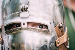 VI节日的战士参加者中世纪 免版税库存图片