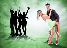 Vi älskar för att dansa hela tid Arkivfoton