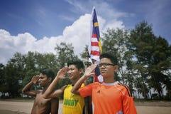 Vi älskar Malaysia Arkivfoto