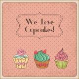 Vi älskar muffin royaltyfri illustrationer
