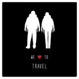Vi älskar till travel3 stock illustrationer