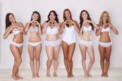 Vi älskar våra kroppar Royaltyfri Fotografi